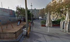 Aspecto actual de la plaza Hilari Salvadó, en la Barceloneta / Google Maps