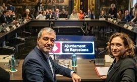 Jaume Collboni y Ada Colau, en un acto del Ayuntamiento / EUROPA PRESS