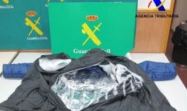 Cocaína interceptada por la Guardia Civil en El Prat en los abrigos de las dos hermanas / GUARDIA CIVIL