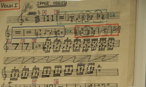 La partitura de Space Oddity / AM
