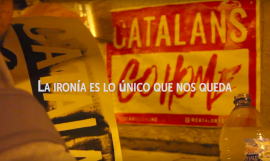 Cartel de 'Catalans Go Home' / ARCHIVO