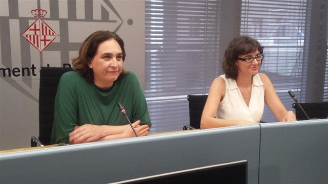 Ada Colau junto con Mercedes Vidal / EUROPA PRESS