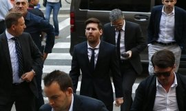 Leo Messi a su entrada a un juicio / EUROPA PRESS