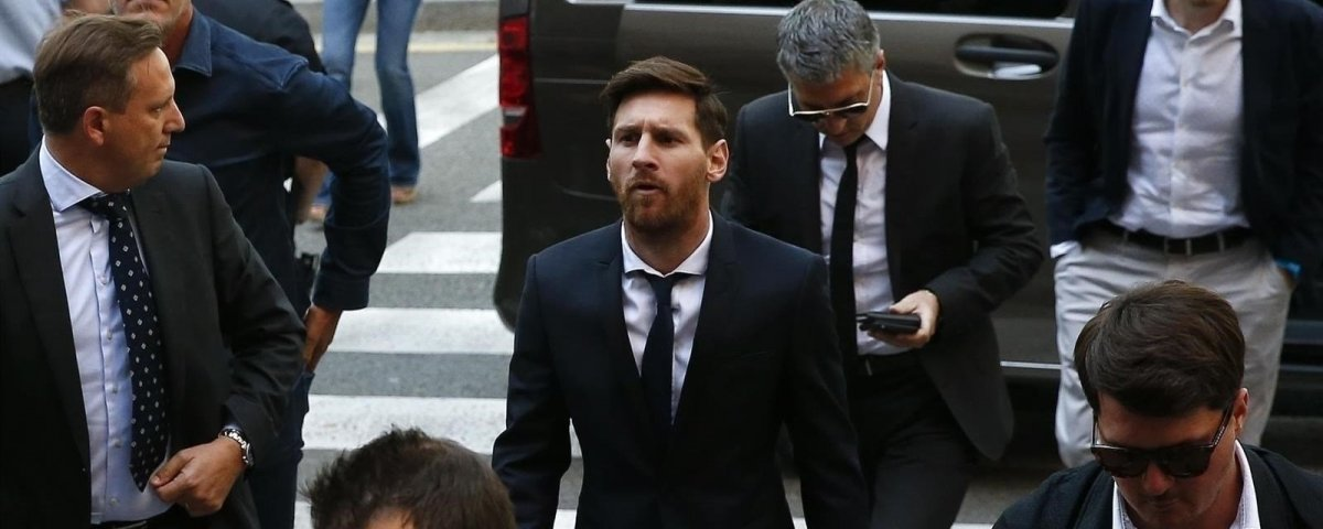 Leo Messi a su entrada en el juicio / EUROPA PRESS