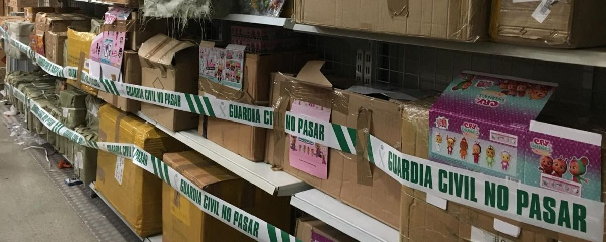 Cajas de juguetes intervenidos por la Guardia Civil / GUARDIA CIVIL