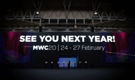 Cartel de clausura del Mobile World Congress Barcelona (MWC) de 2019 / EUROPA PRESS