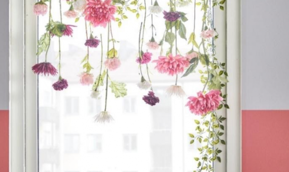 Ideas de decoración para alegrar con flores artificiales / IKEA