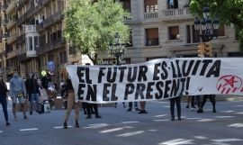 Manifestación de Arran en Via Laietana / EUROPA PRESS