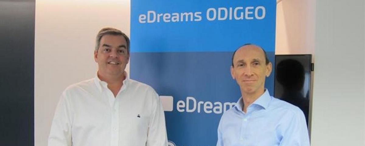 David Elizaga, CFO de eDreams, y Dana Dunne, consejero delegado de eDreams / EP - DAVID ZORRAKINO